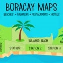 Boracay Map with Stations 1, 2 , 3 and other regions
